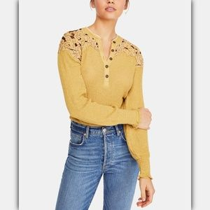 Free People Cotton Easy Breezy Henley Top
